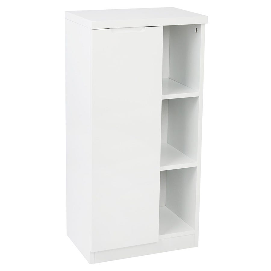 Image of Alzora Bathroom Storage Cabinet - White