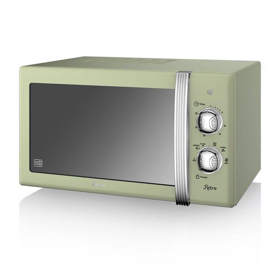 Swan Retro SM22130GN 800W 20L Solo Manual Microwave - Green