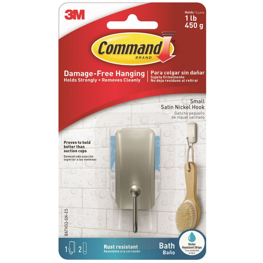 3M Command Small Bath Hook