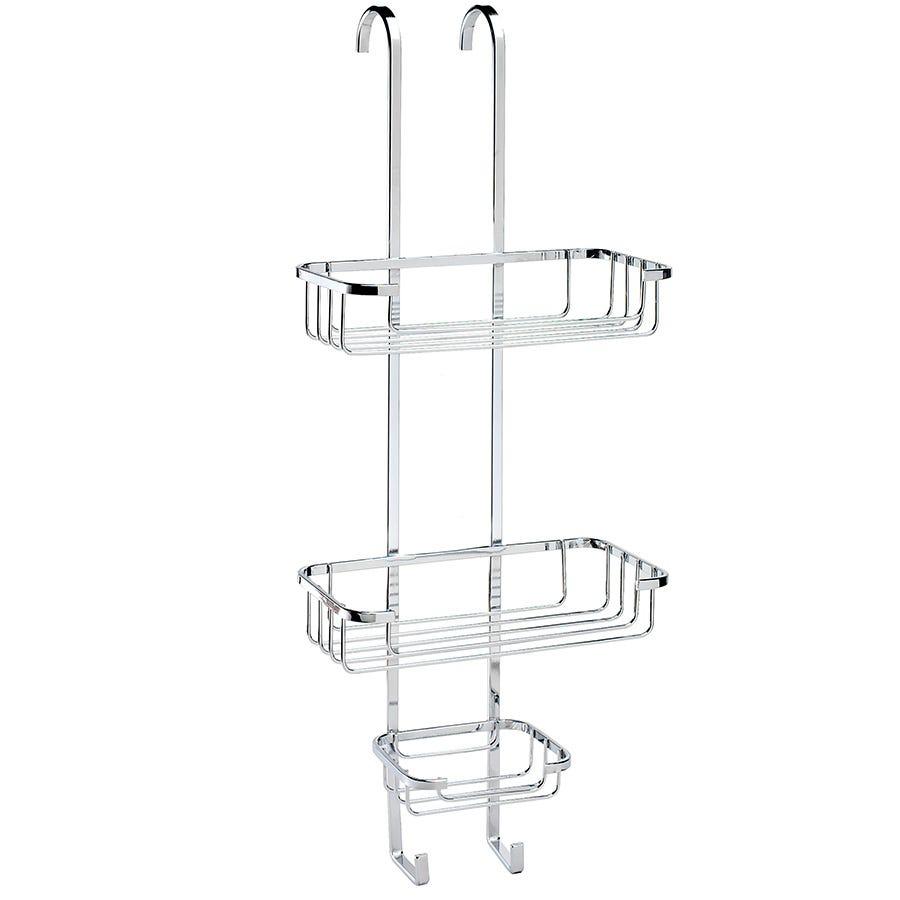 croydex 3 tier corner shower basket chrome. Black Bedroom Furniture Sets. Home Design Ideas