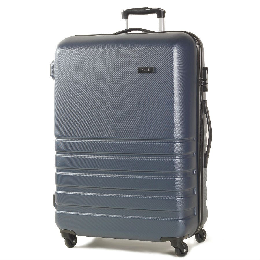 Rock Byron Large Hard Shell Spinner Suitcase - Navy