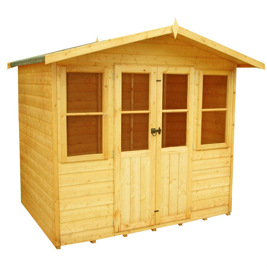 6'7x5'5 Shire Haddon Traditional Wooden Summer House
