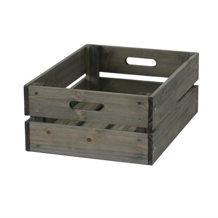 VegTrug Wooden Crate - Grey
