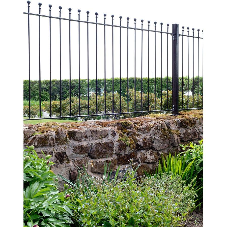 Grange Fencing Grange Wenlock Ball Top Metal Fence