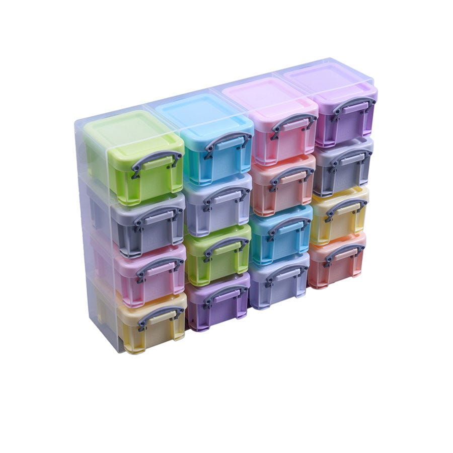 Image of Really Useful 16 x 0.14L Box Storage Set - Pastel