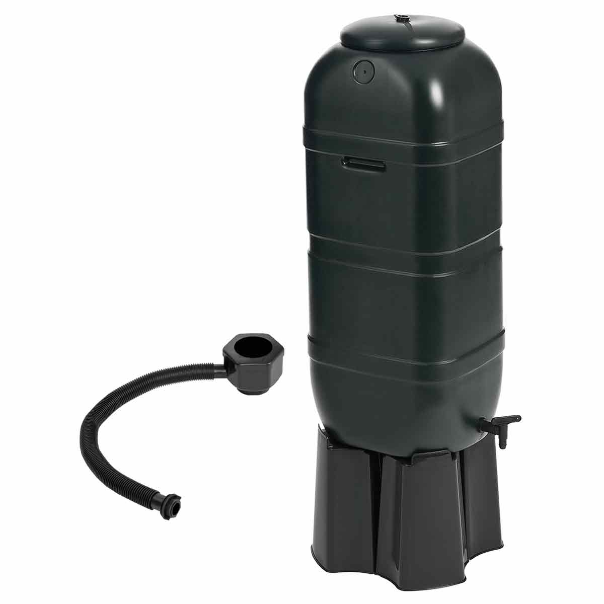 Charles Bentley 100L Slimline Water Butt Set Including Tap with Stand and Filler Kit