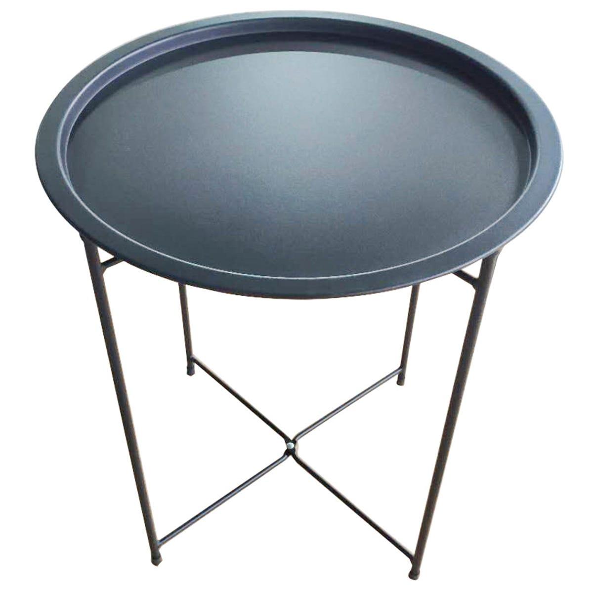 Charles Bentley Steel Side Table - Black