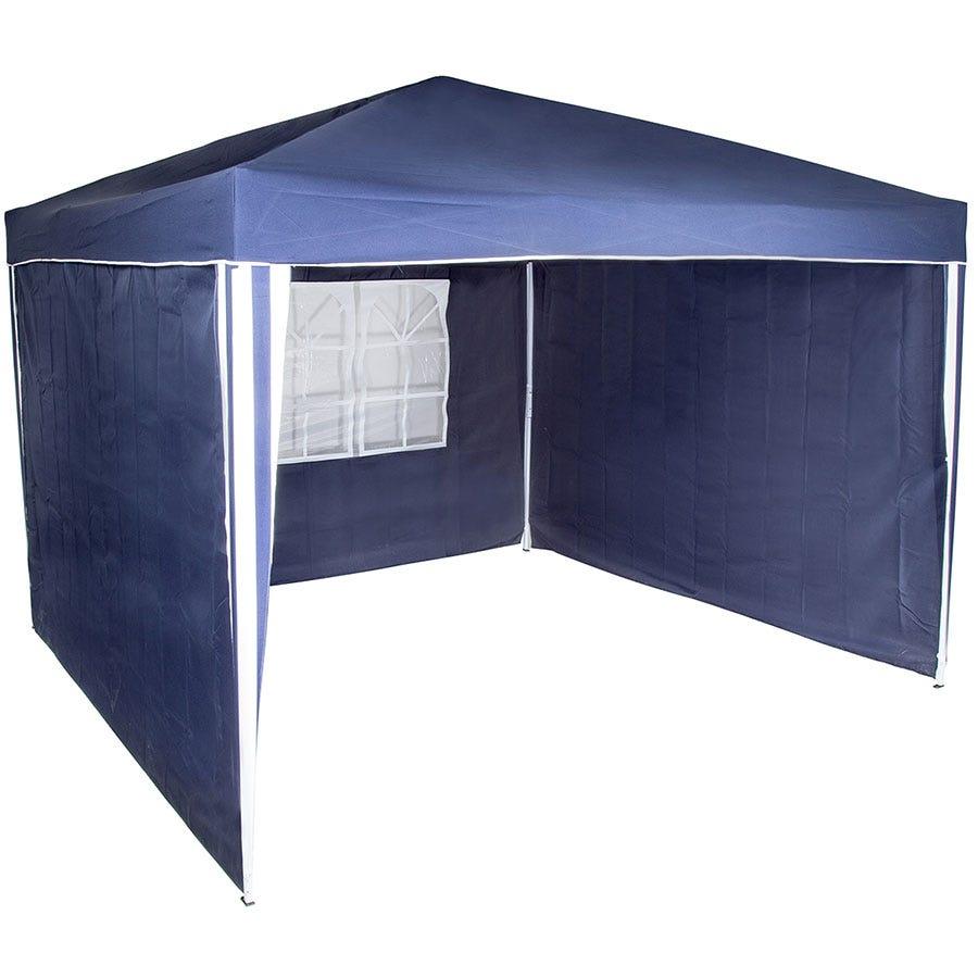 Charles Bentley 3-Piece Gazebo Side Wall Panels - Blue