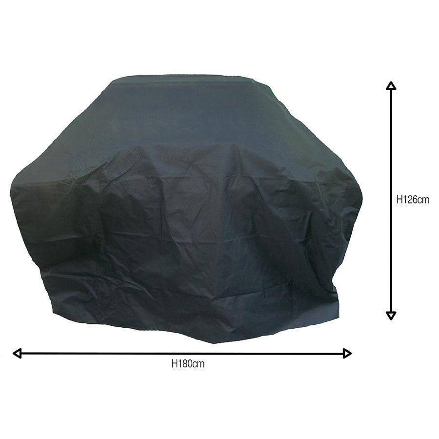 Charles Bentley Universal Premium Waterproof Gas BBQ Cover Large - Black