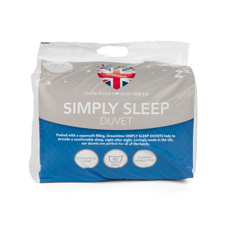 Dreamtime Simply Sleep 10.5 Tog King Size Duvet - White