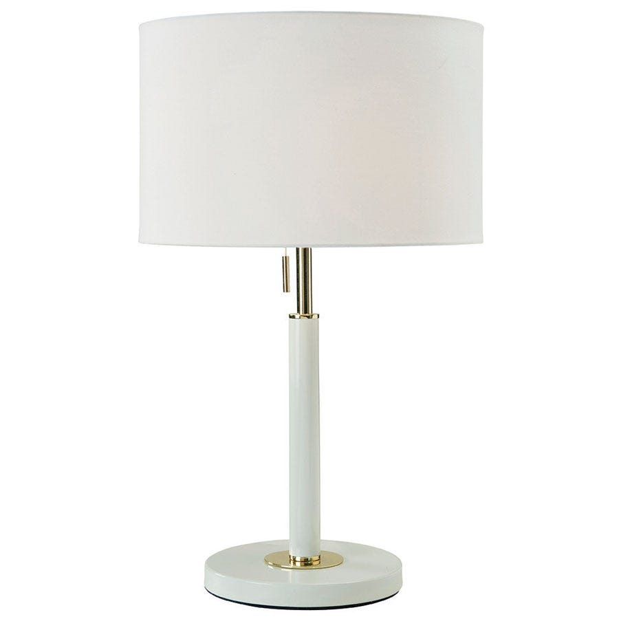 Village At Home Madaline Table Lamp - Gold/Ivory