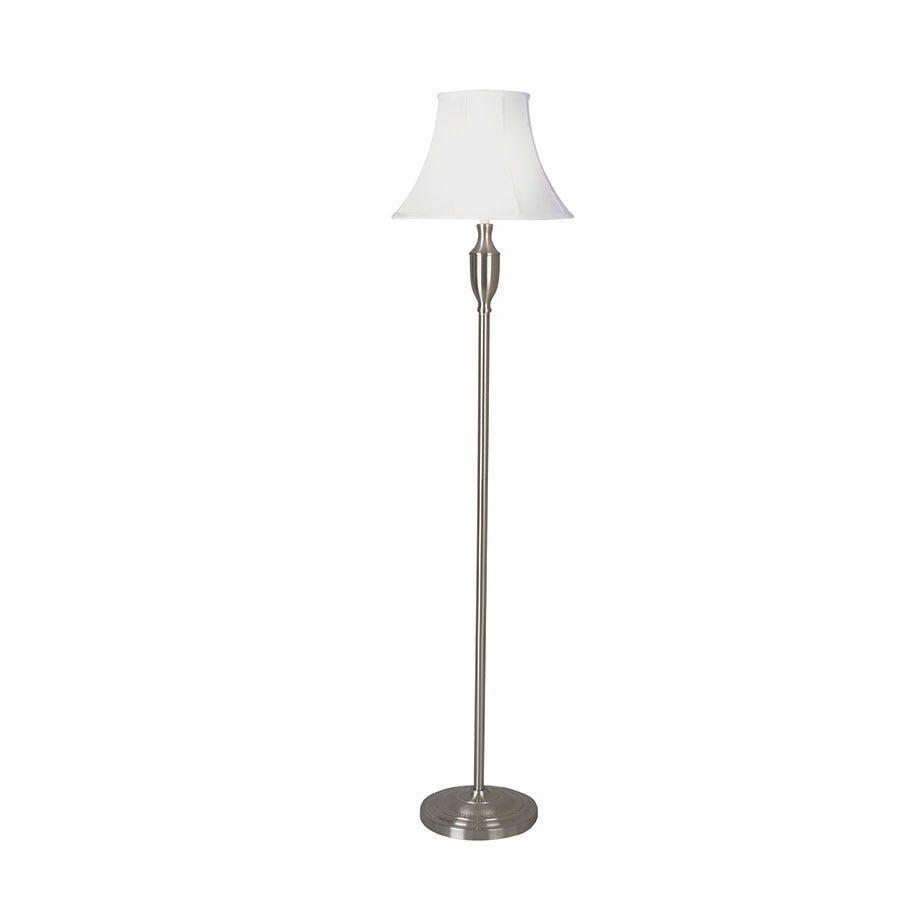 Village At Home Vienna Satin Floor Lamp - Chrome