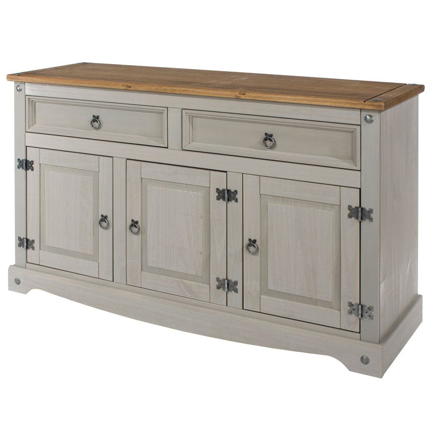 Halea Medium Pine Sideboard - Grey