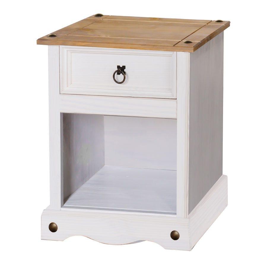 Halea 1-Drawer Bedside Cabinet - White