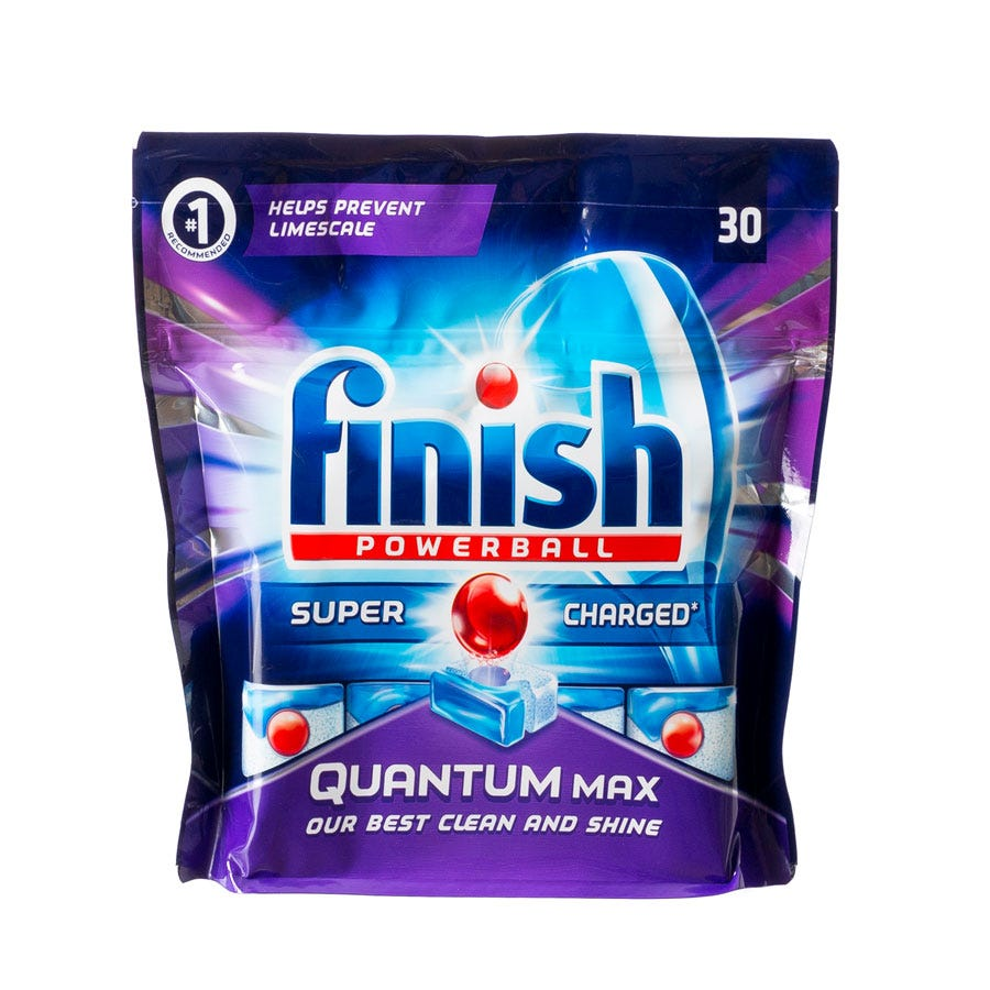 Finish Quantum Max Powerball Dishwasher Tablets - 30 Pack