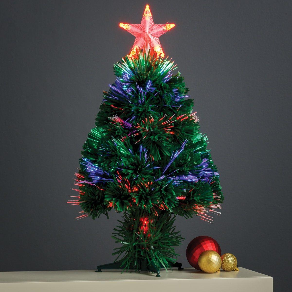 1.5ft Robert Dyas Penrith Fibre Optic Christmas Tree with Star