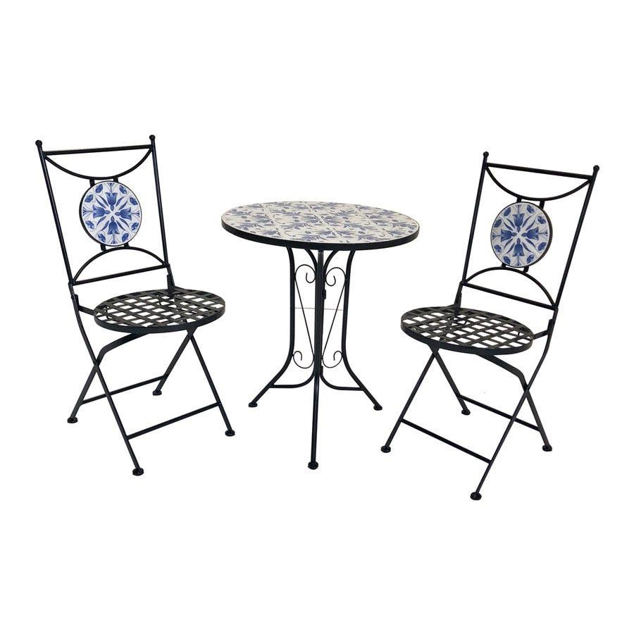 Charles Bentley 2-Seater Floral Mosaic Bistro Set