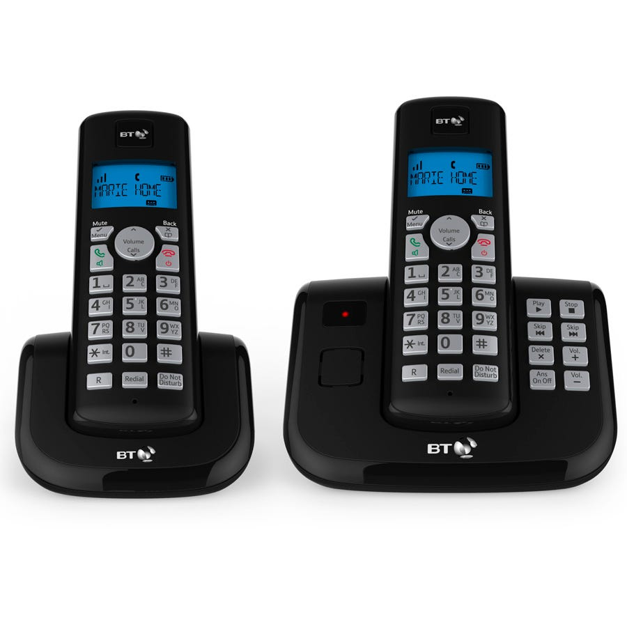 BT 3560 Cordless Home Phone with Nuisance Call Blocking and Answering Machine - Twin