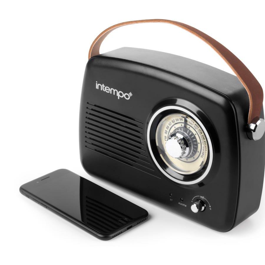 Intempo FM Radio Speaker - Black