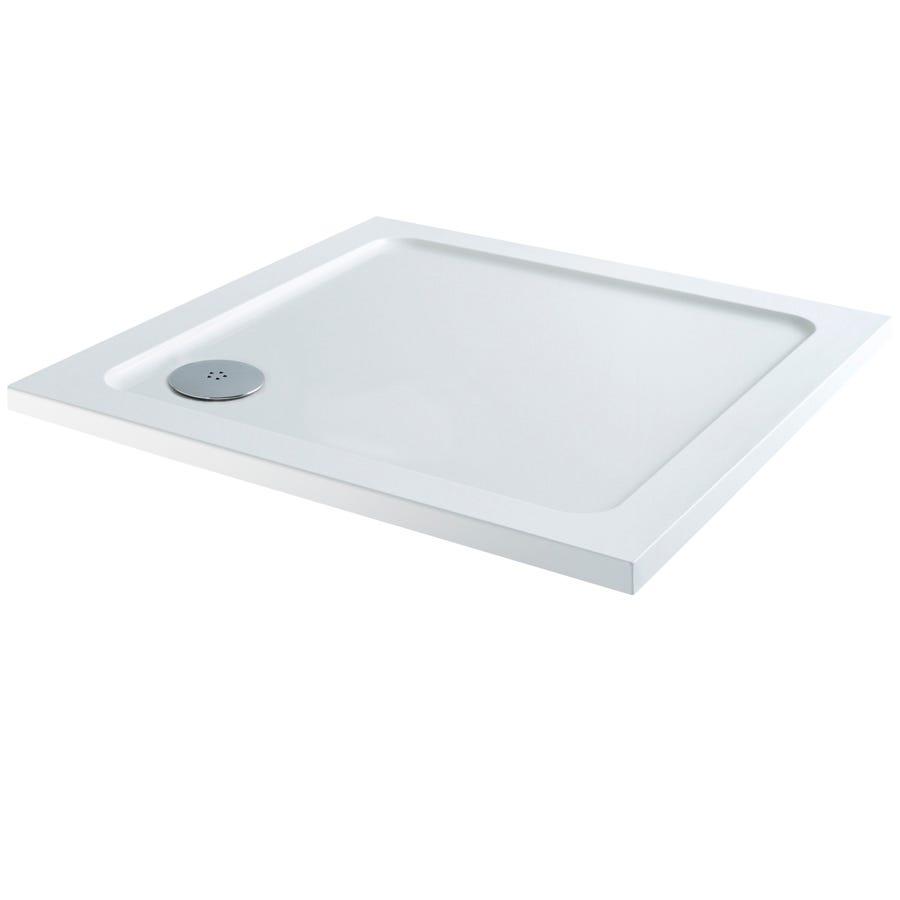 Pro 900 x 900mm Shower Tray - White