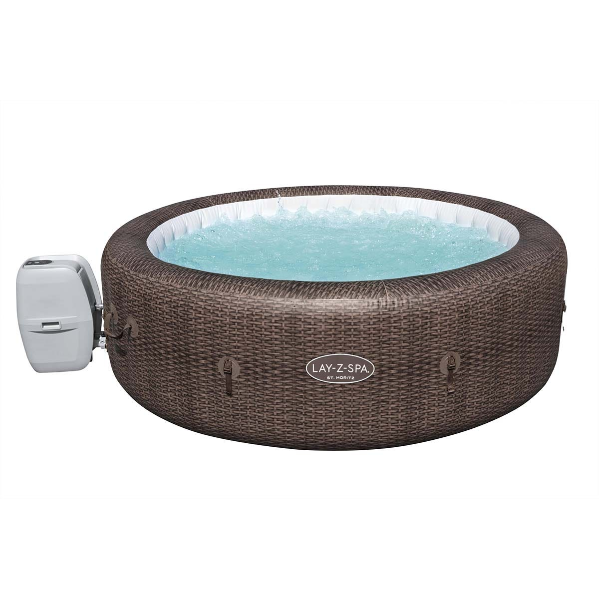 Lay-Z-Spa St Moritz AirJet Hot Tub Inflatable Spa, 5-7 Persons