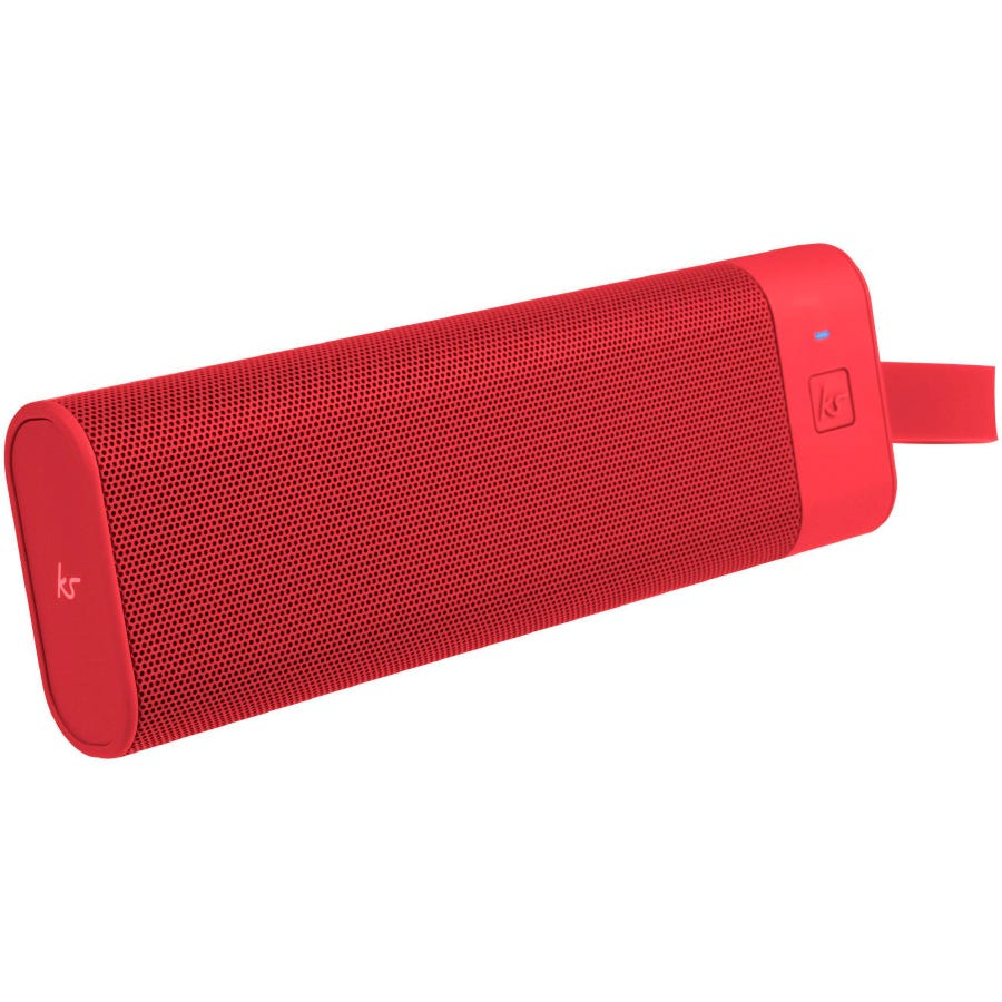 Kitsound BoomBar+ Portable Wireless Speaker - Red