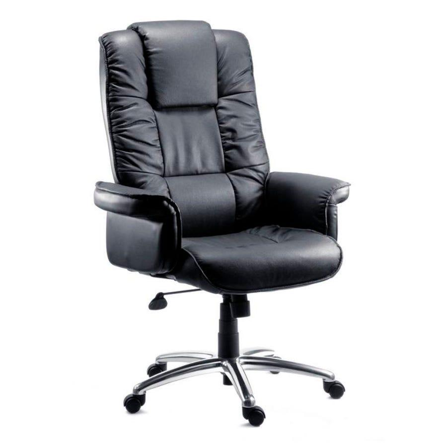 TEKNIK Lombard Bonded Leather Tilting Executive Chair - Black, Black