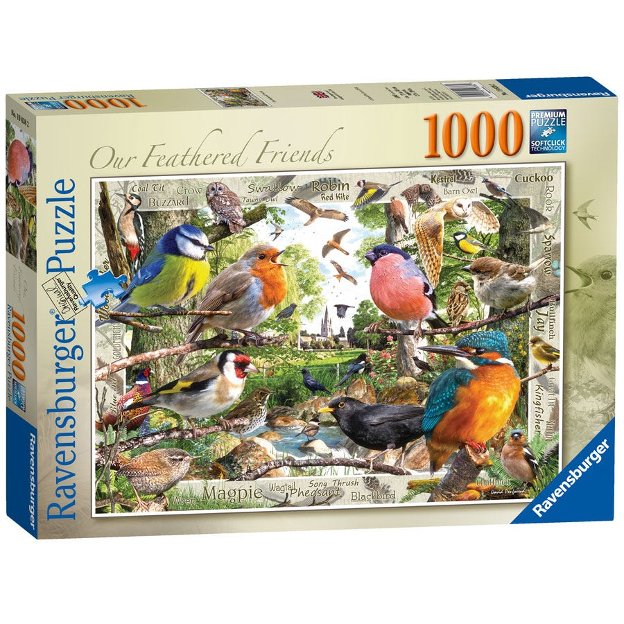 Ravensburger Feathered Friends 1000 Piece Jigsaw Puzzle