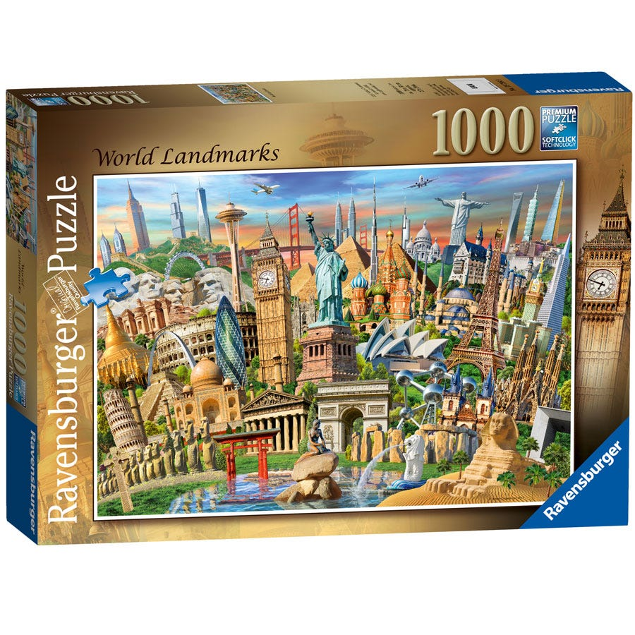 Ravensburger World Landmarks 1000-piece Jigsaw Puzzle