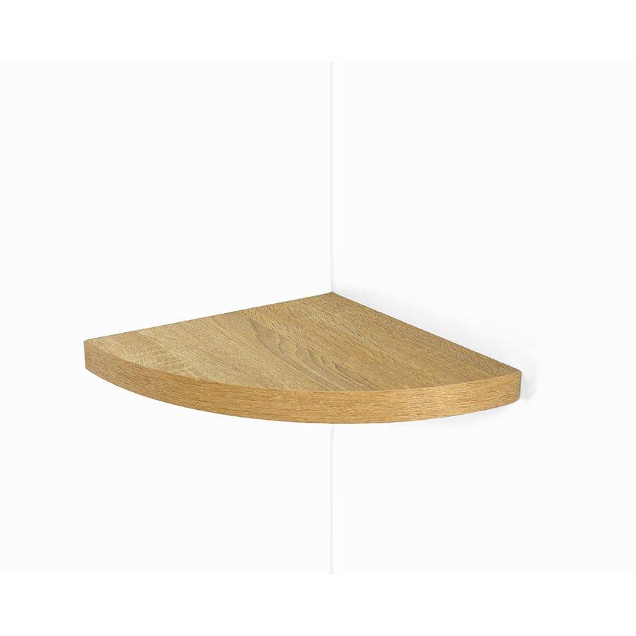 Core Products 29.5cm Floating Corner Shelf Kit - Oak