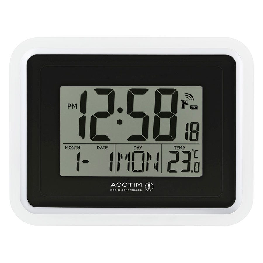 Image of Acctim 'Delta' RC LCD Wall/Desk Clock