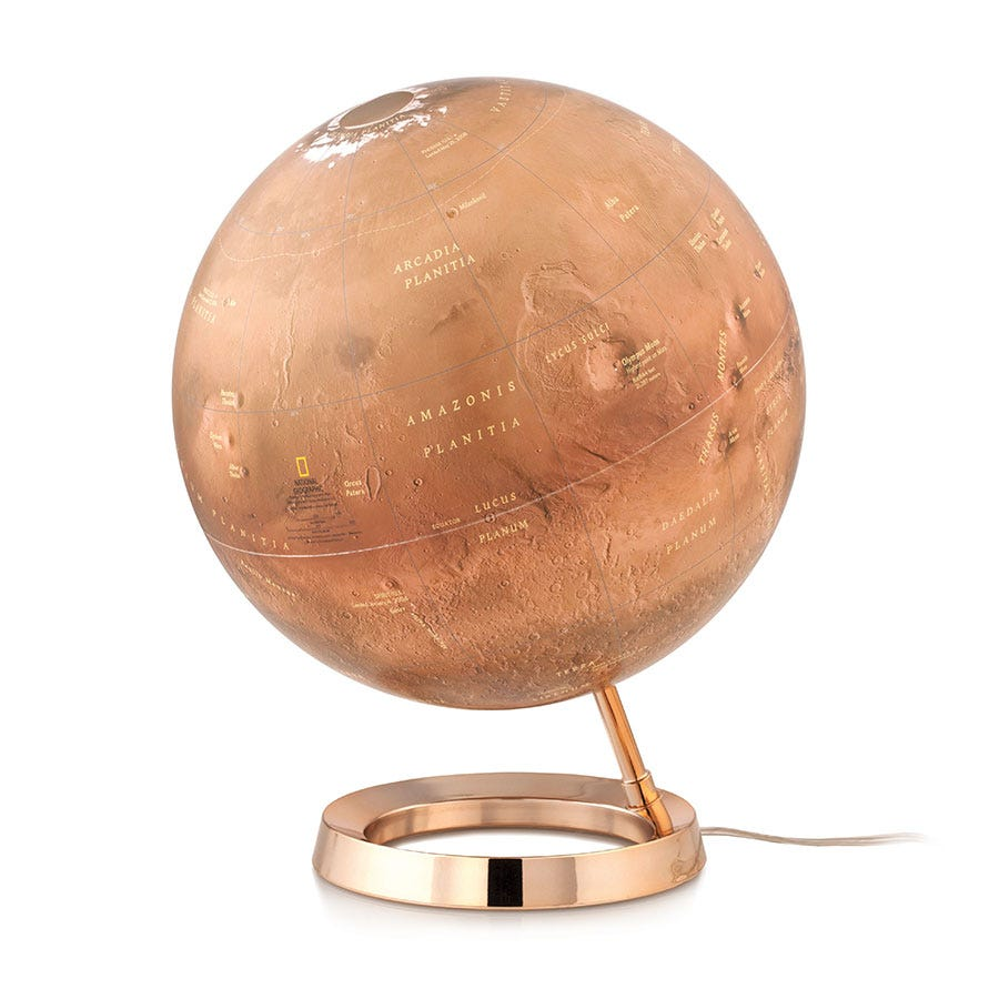Robert Dyas National Geographic 30cm Mars Illuminated Globe