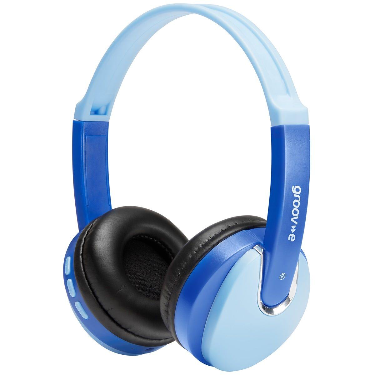 Groov-e Kids Wireless DJ Style Bluetooth Headphones - Blue