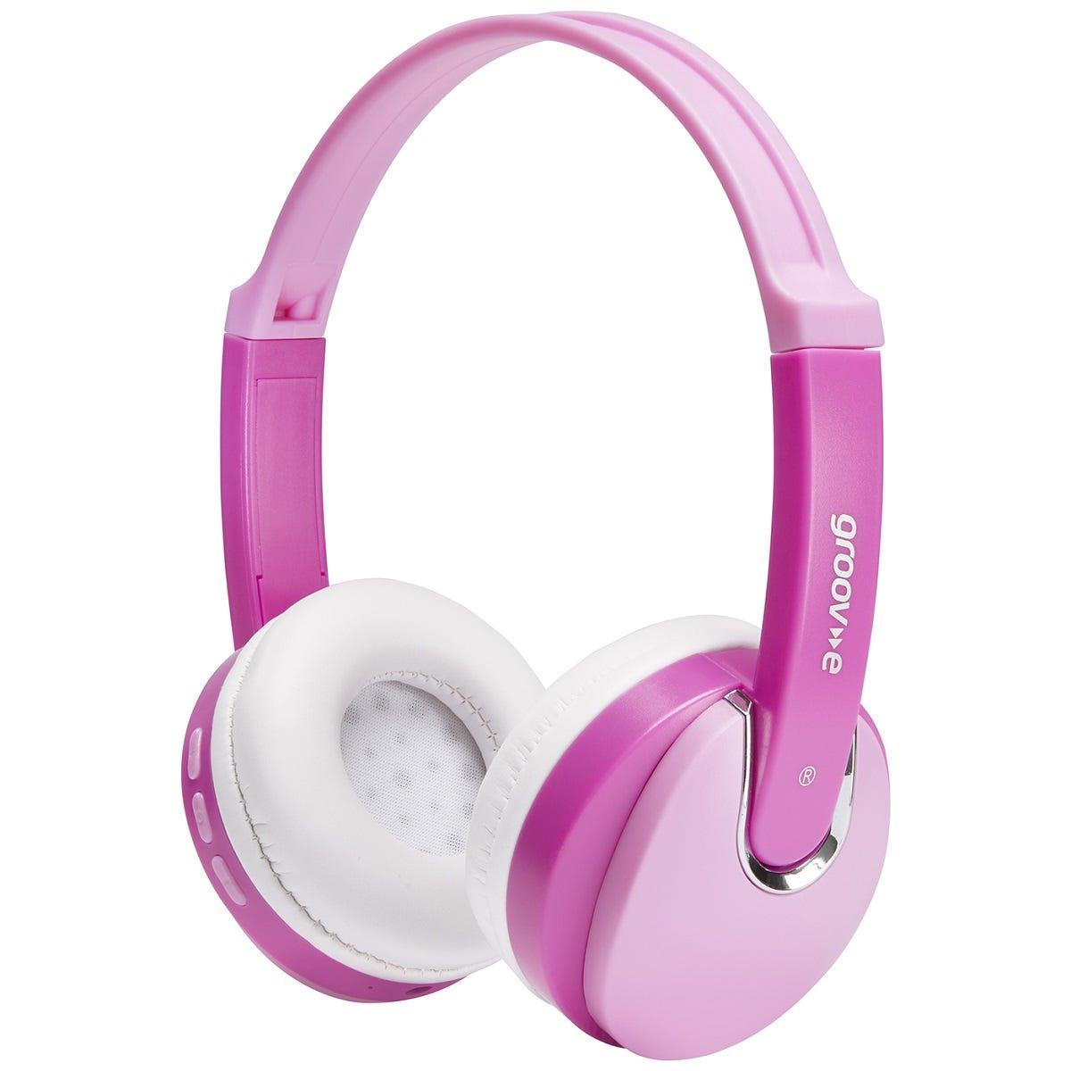 Groov-e Kids Wireless DJ Style Bluetooth Headphones - Pink