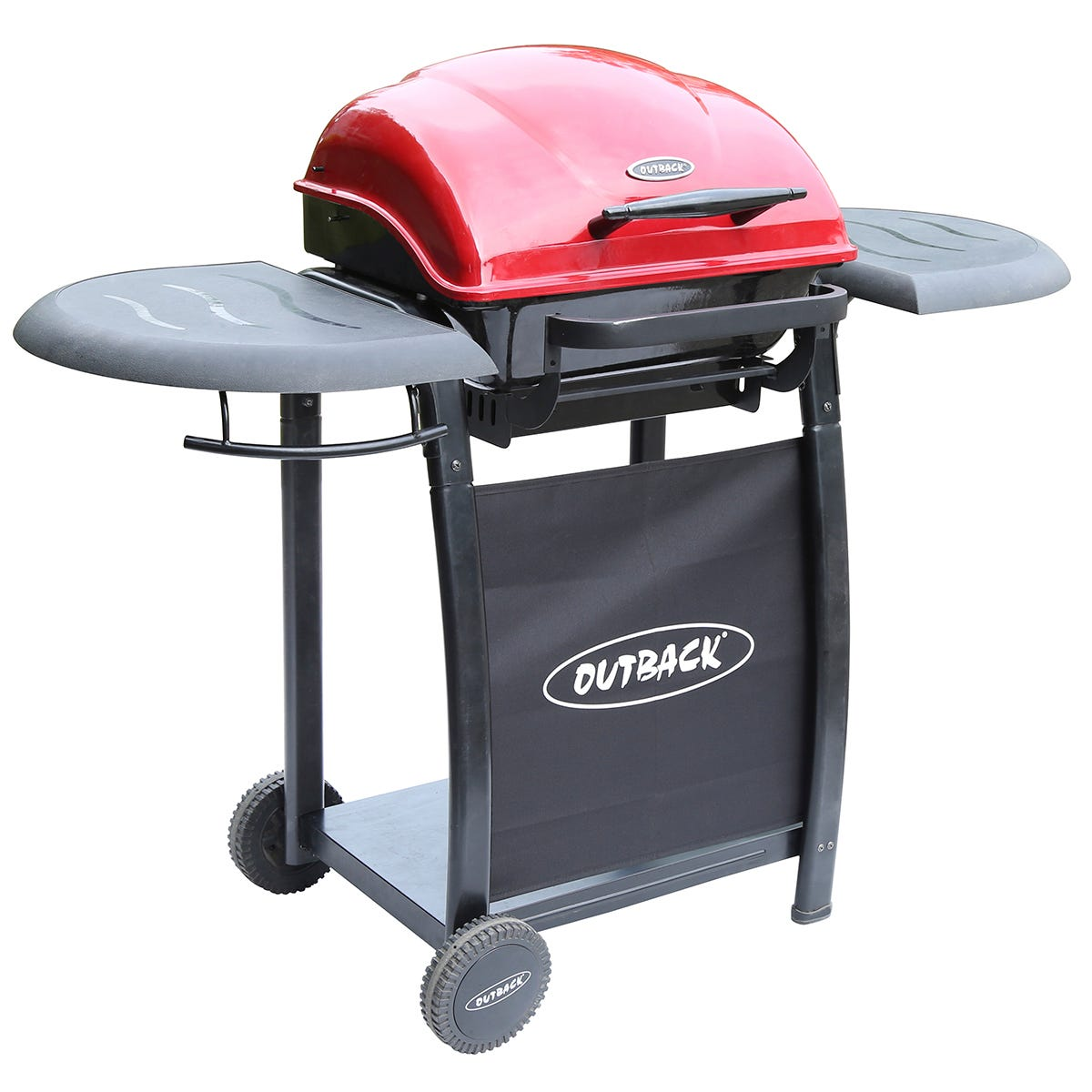 Outback Omega 210 Charcoal BBQ - Red