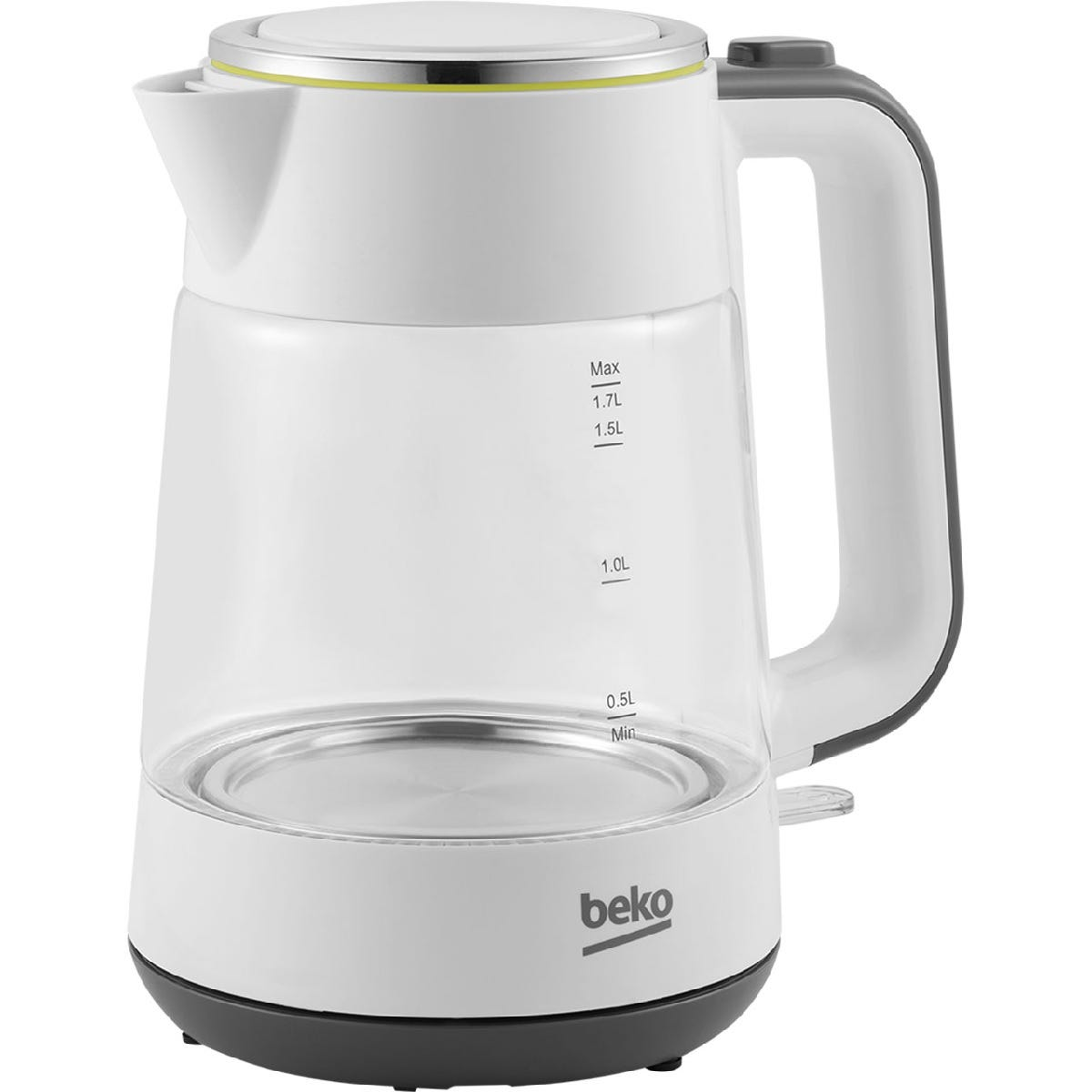 Image of Beko New Line 1.7L Glass Kettle - White
