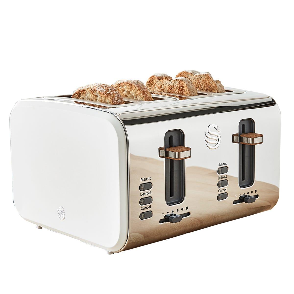 Swan ST14620WHTN Nordic 4 Slice Toaster - White