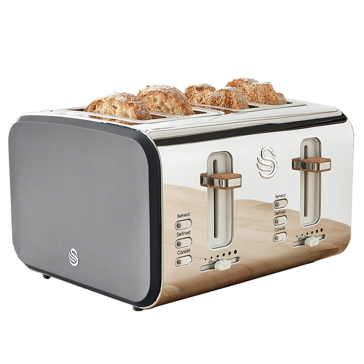 Swan ST14620GRYN Nordic 4 Slice Toaster - Grey