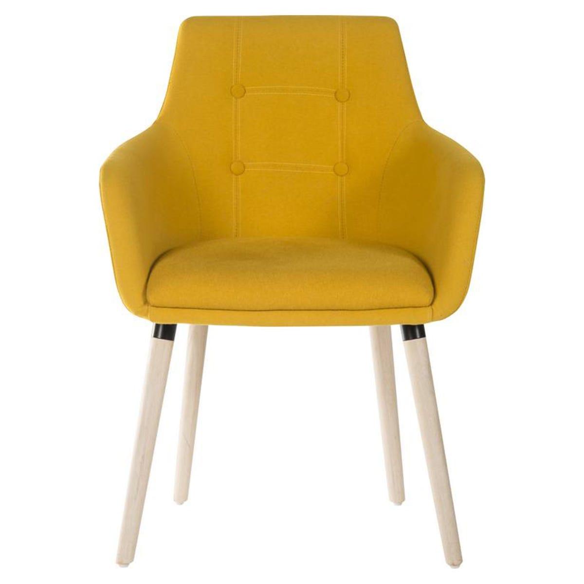 Teknik 4 Legged Soft Padded Office Chair - Yellow