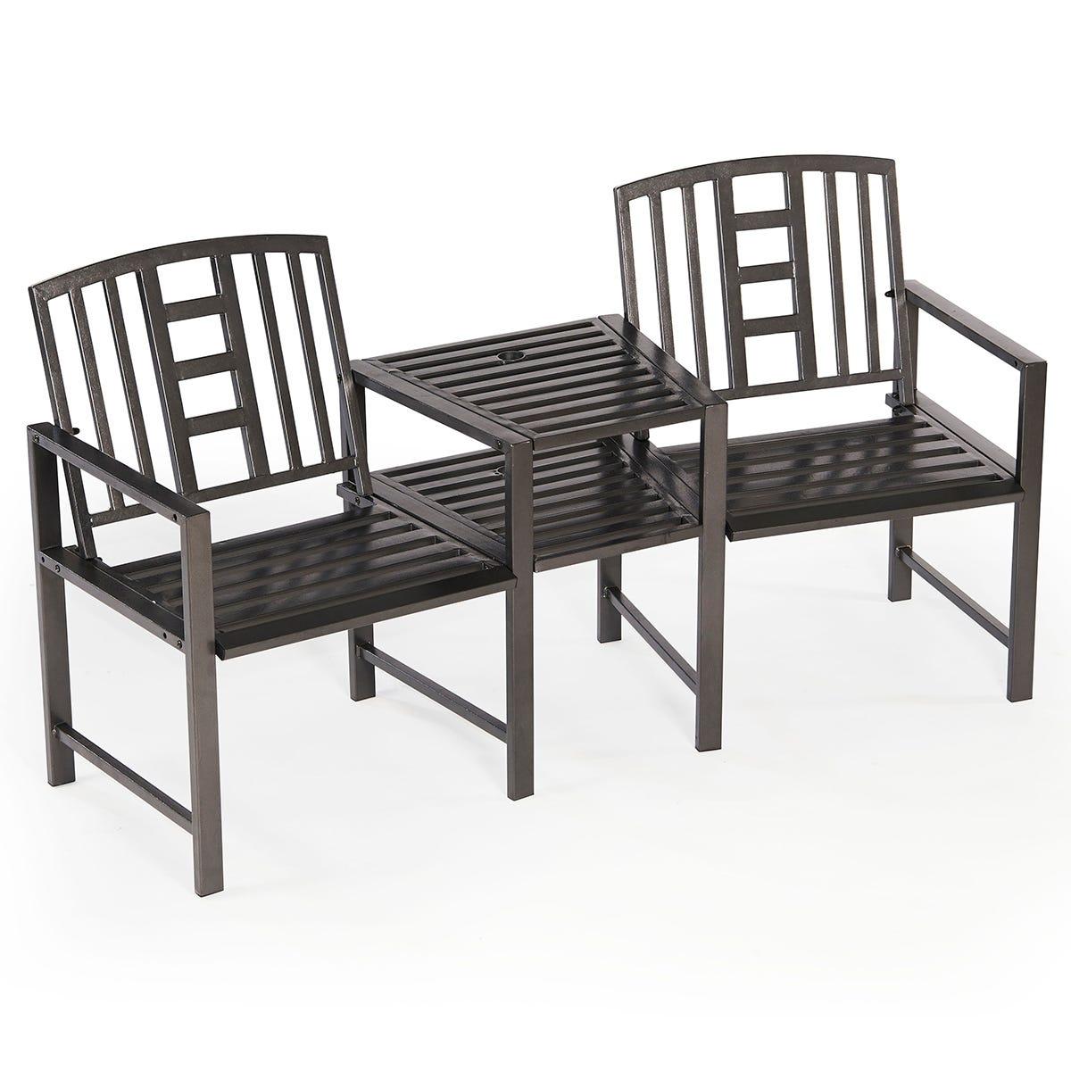Greenhurst Hartlebury Duo Garden Bench and Table