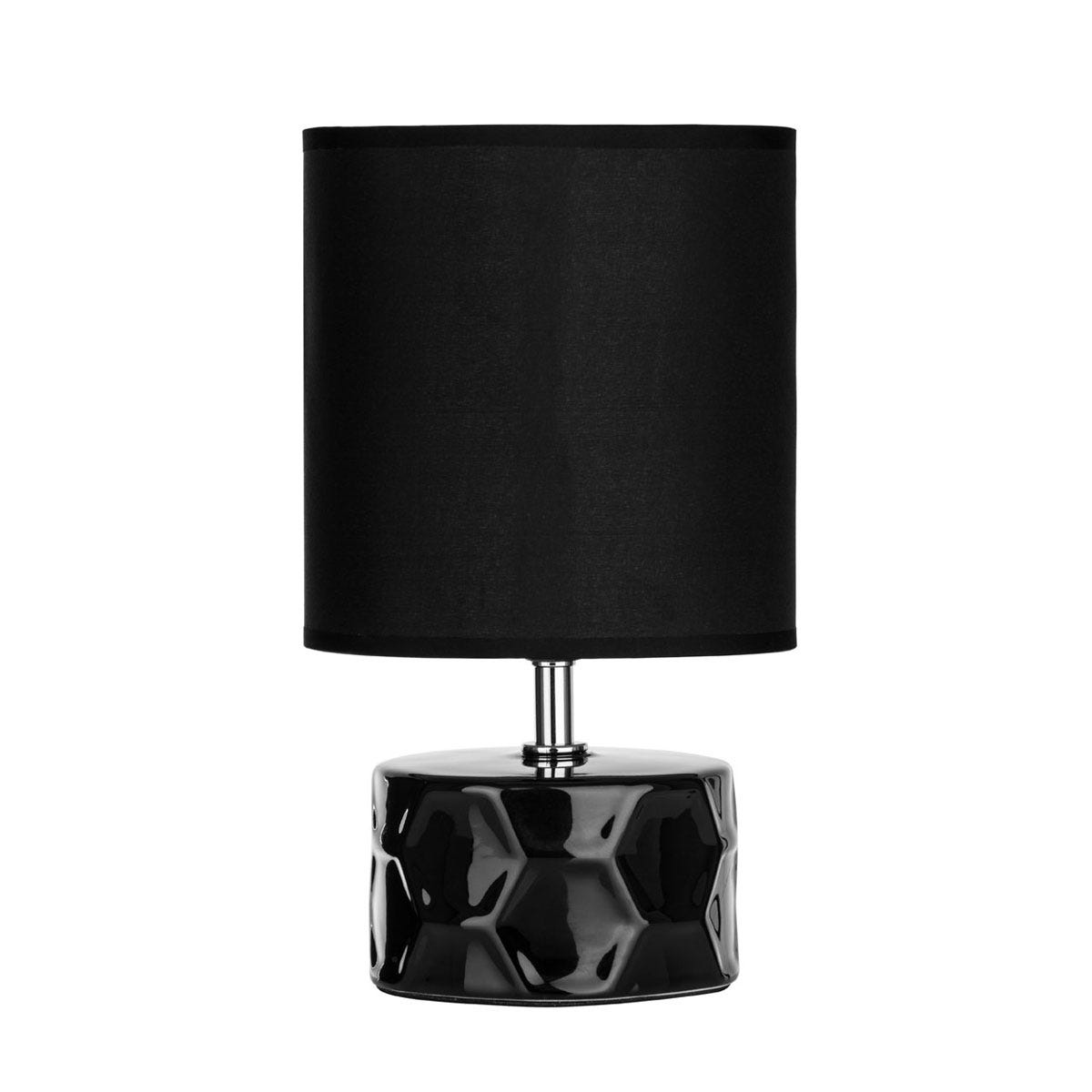 Premier Housewares Honeycomb Ceramic Base Table Lamp - Black