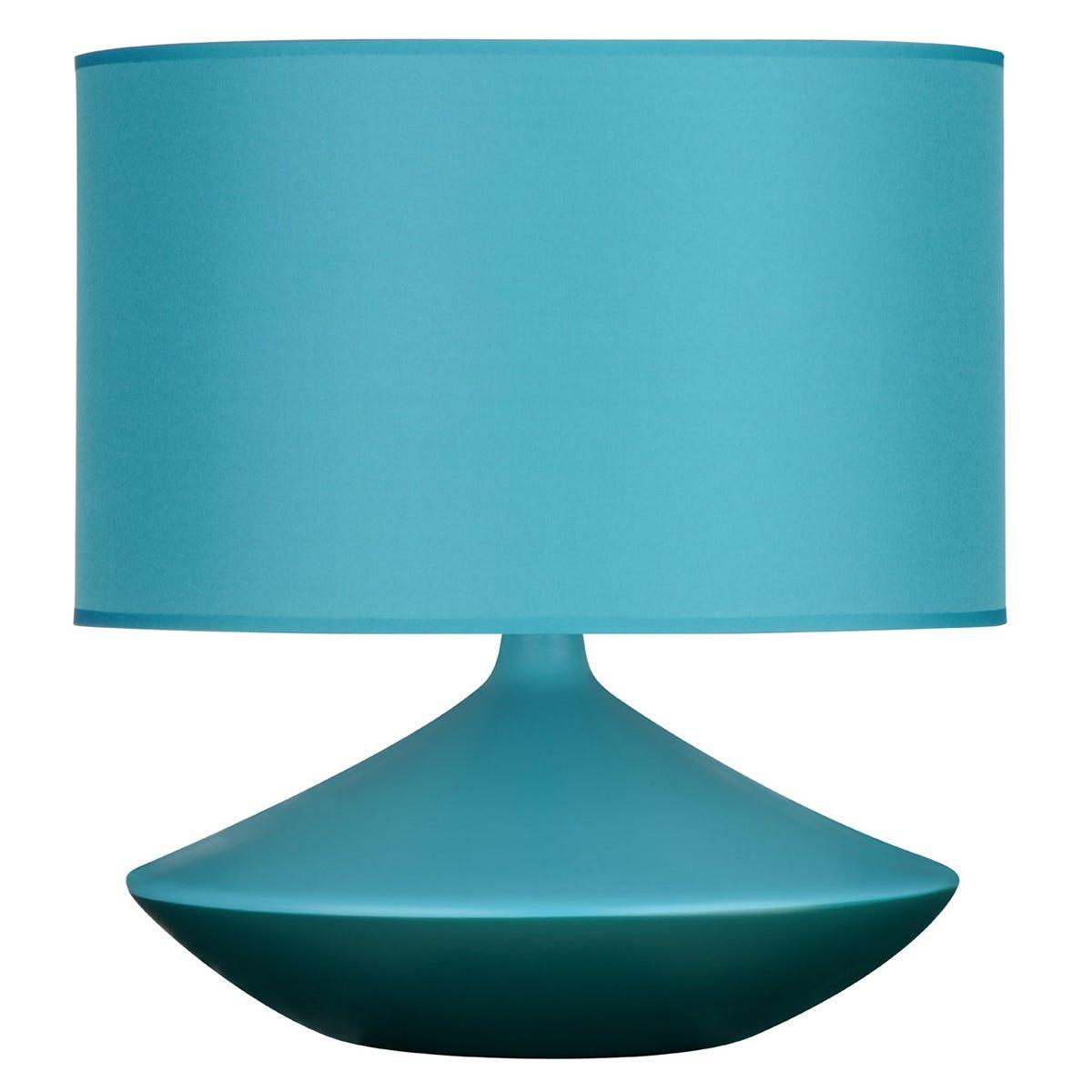 Premier Housewares Table Lamp in Teal Ceramic