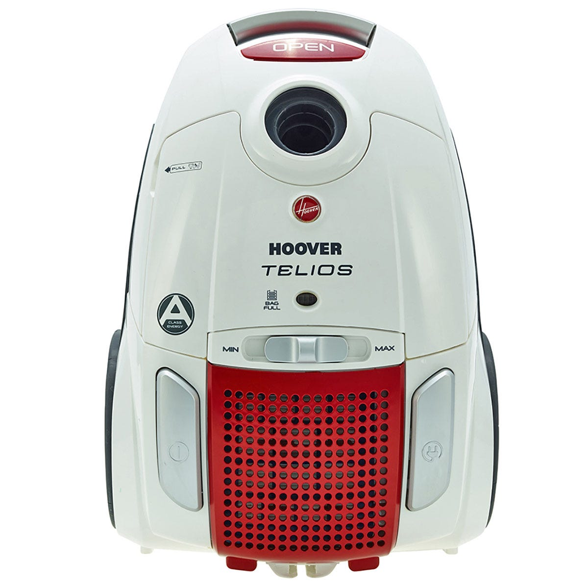 Hoover Telios Bagged Cylinder Vacuum 700w - White / Red