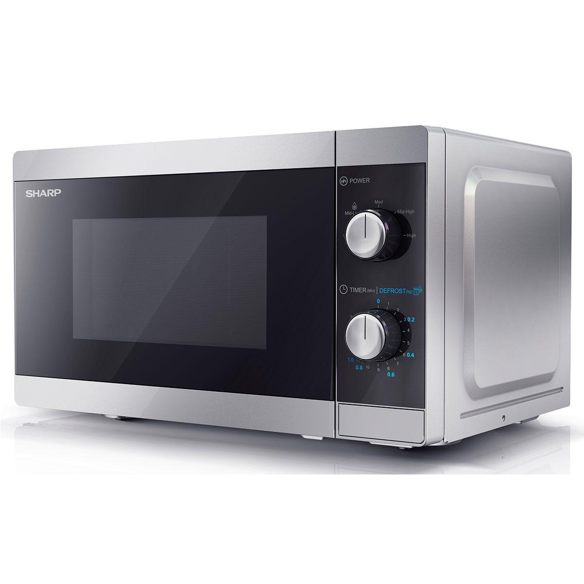 Sharp YC-MS01U-S 800W 20L Solo Microwave - Silver