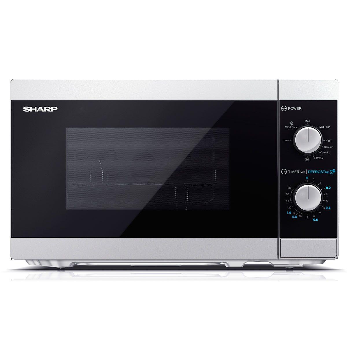 Sharp YC-MG01U-S 800W Solo 20L Microwave with 1000W Grill - Silver