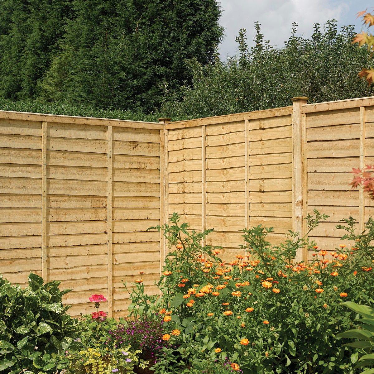 Rowlinson 3pk Lap Panel Pressure Treated Fence - 6x4