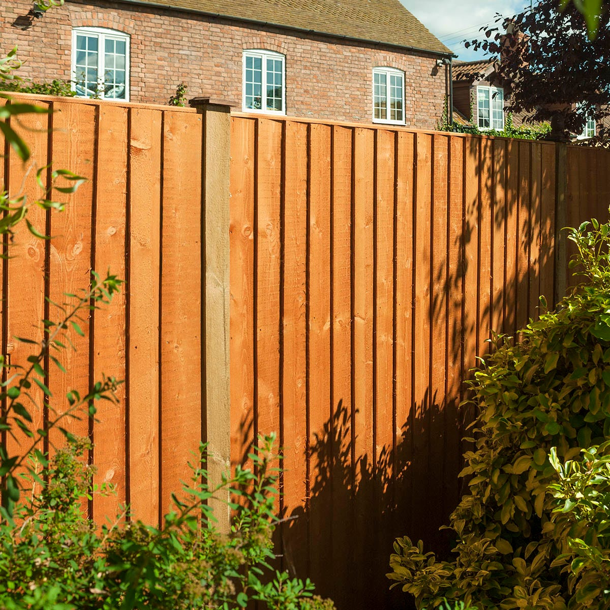 Rowlinson 3pk Vertical Board Panel Dipped Fence - 6x4