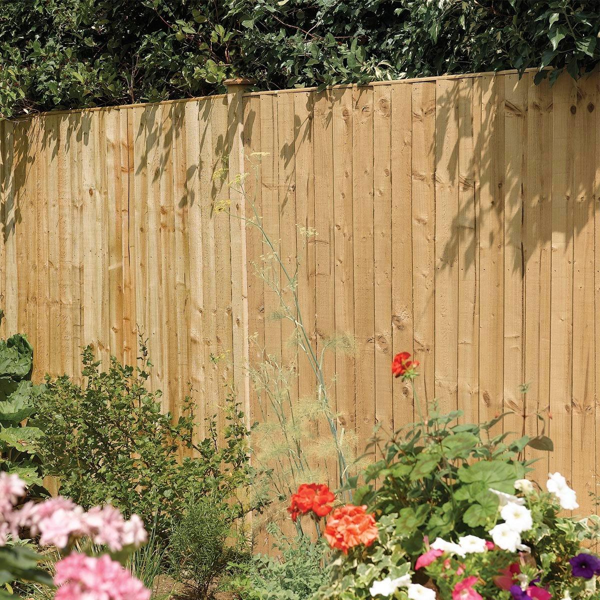 Rowlinson 3pk Vertical Board Panel Pressure Treated Fence - 6x5