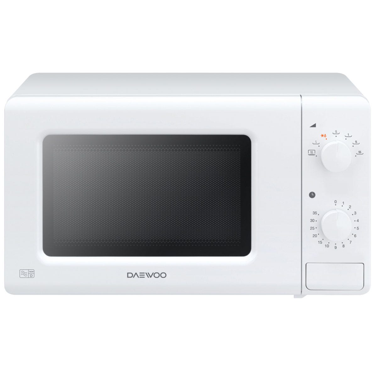 Daewoo 700W 20L Manual Microwave Oven - White