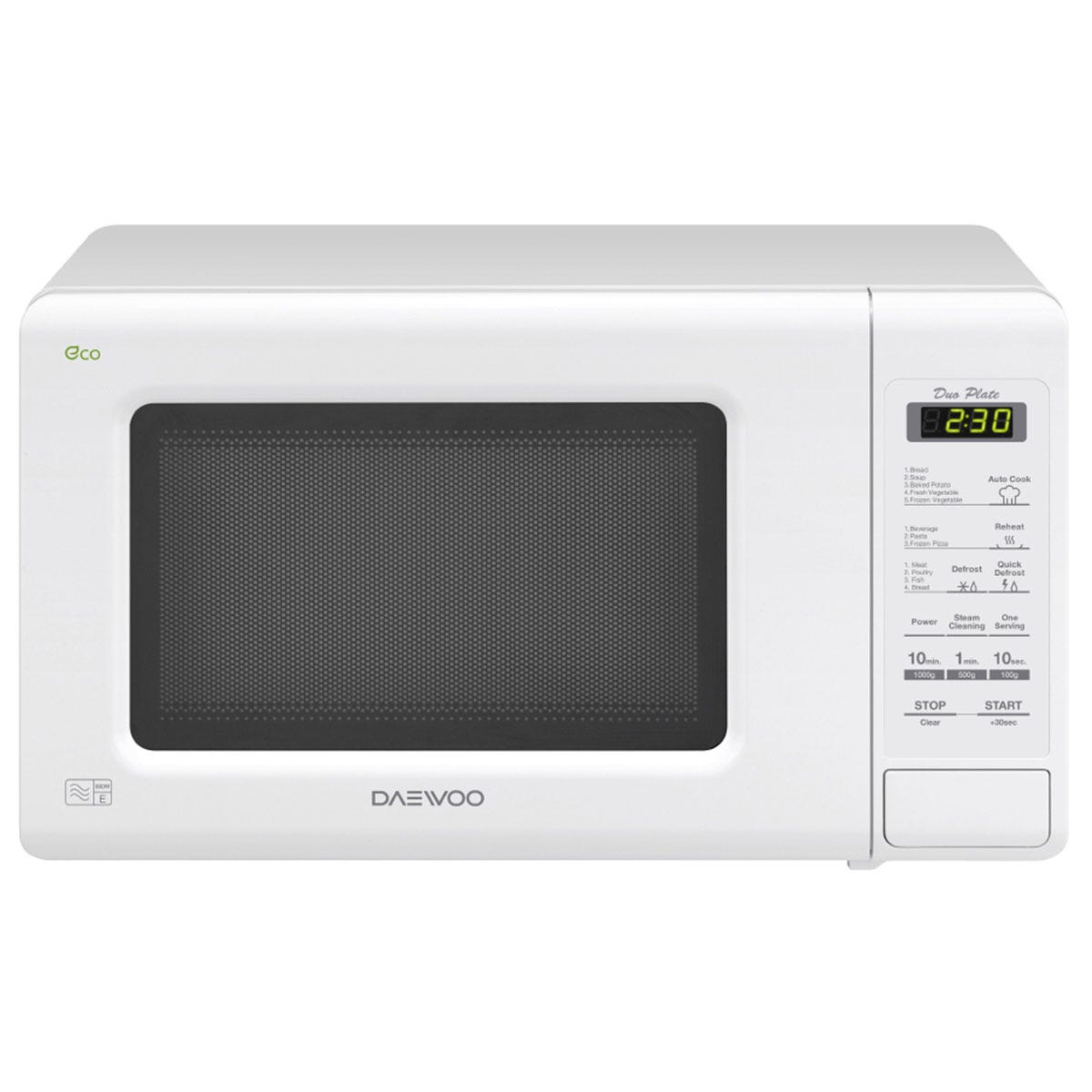 Daewoo KOR6M1RDWR 20L Touch Control 800W Digital Microwave - White